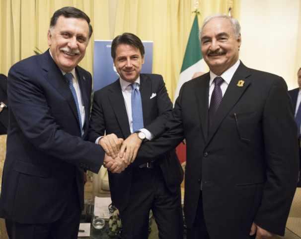 libia conte al sarraj palazzo chigi