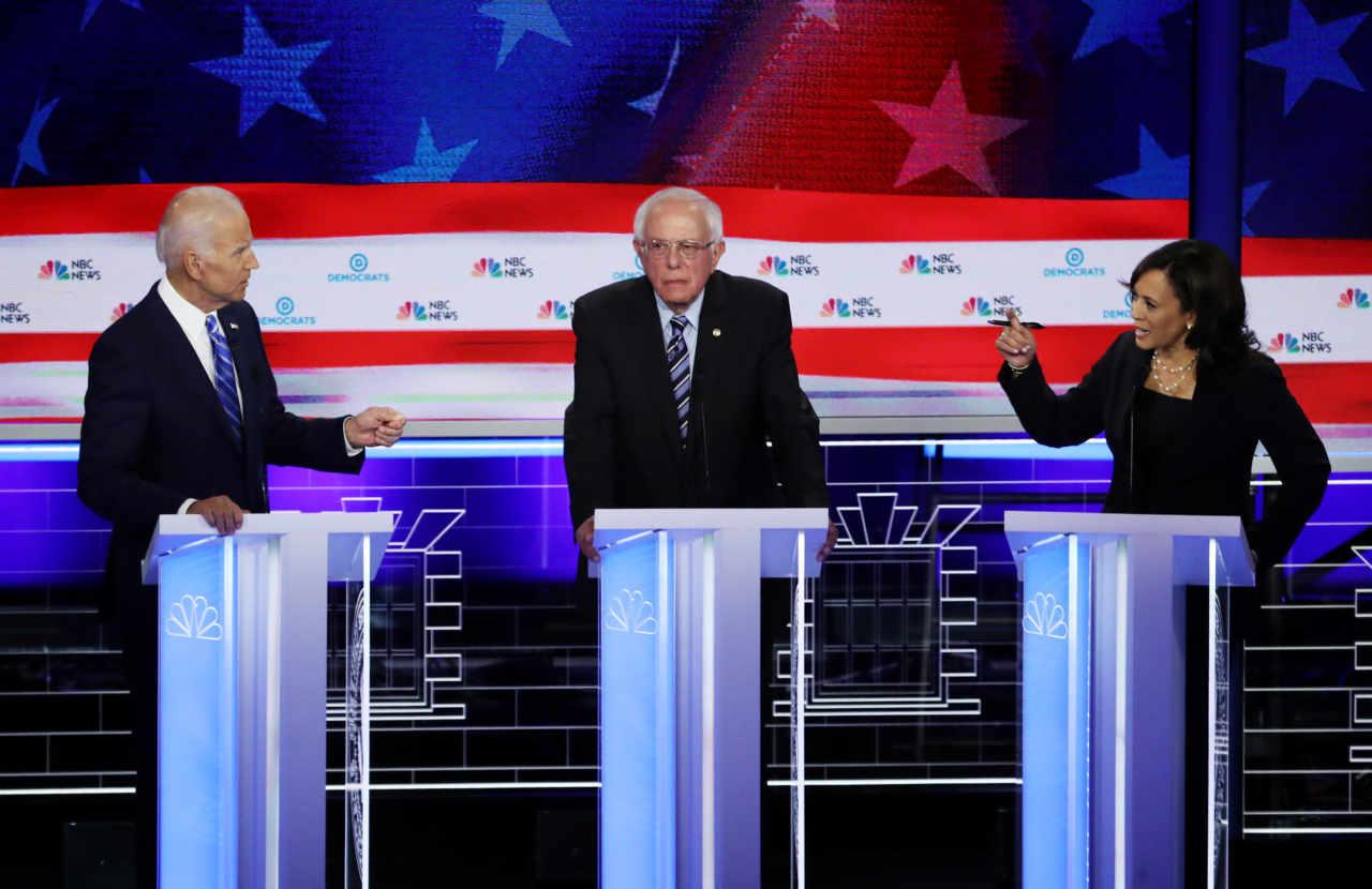 Biden e Sanders: Trump bugiardo razzista