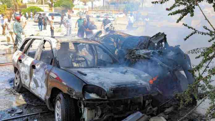 libia bengasi autobomba haftar