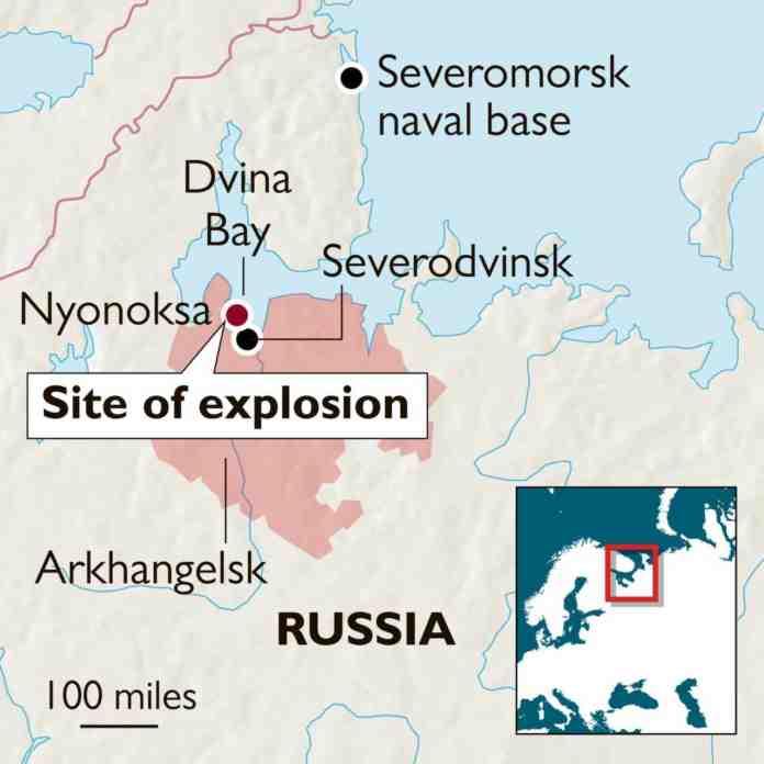 russia esplosione base navale radiazione