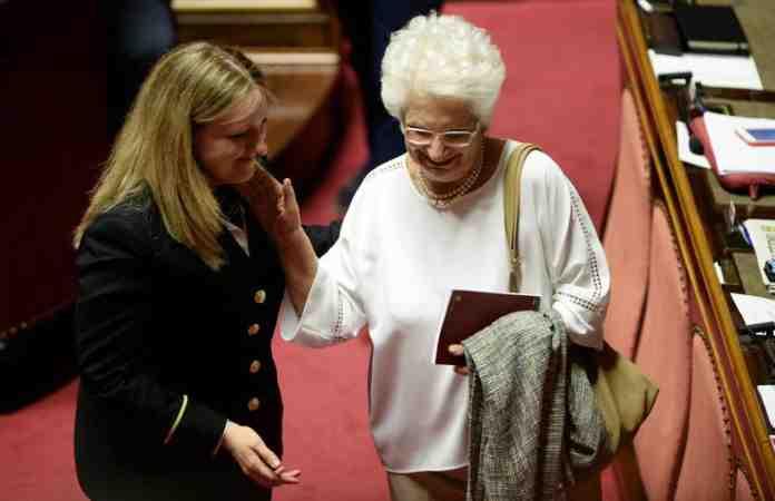 liliana segre voto fiducia senato