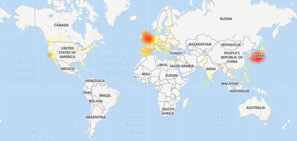 twitter down mappa segnalazioni