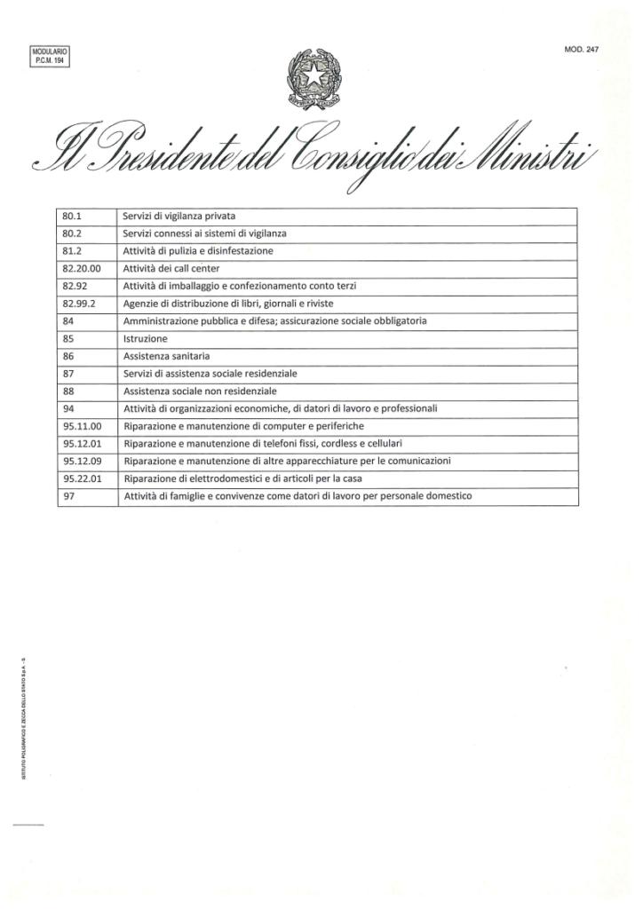 attivita escluse decreto coronavirus3