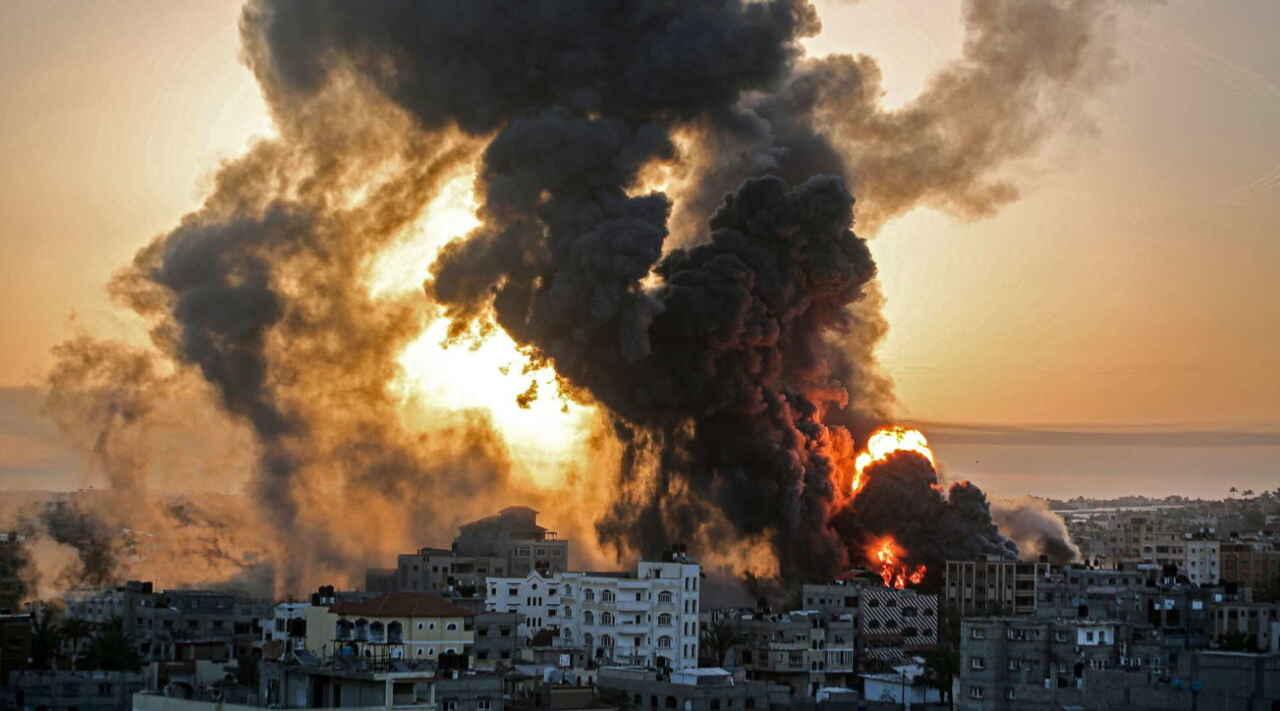 israele striscia gaza notte