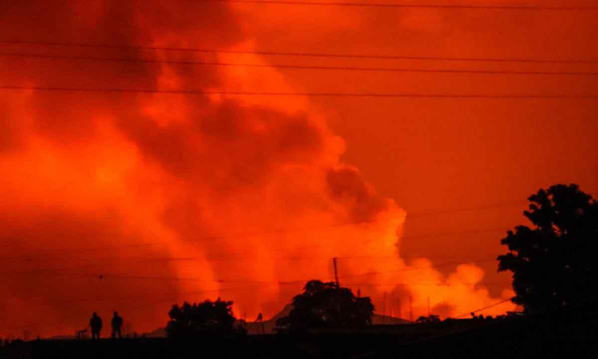 vulcano Nyiragongo congo eruzione